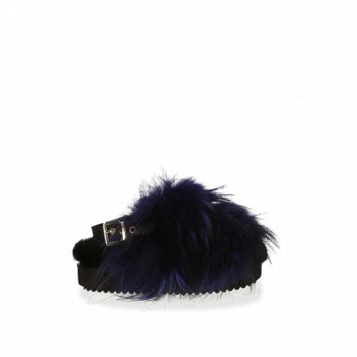 Sandals with fur