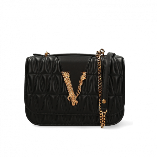 VIRTUS QUILTED SHOULDER BAG VERSACE