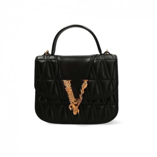 VIRTUS QUILTED DUAL-CARRY BAG VERSACE