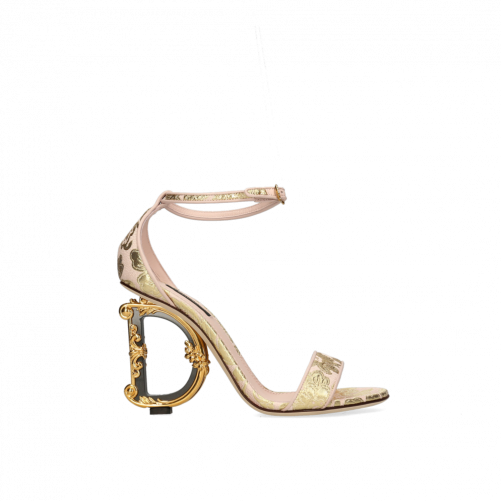 SANDALS WITH BAROQUE D&G HEEL DOLCE & GABBANA