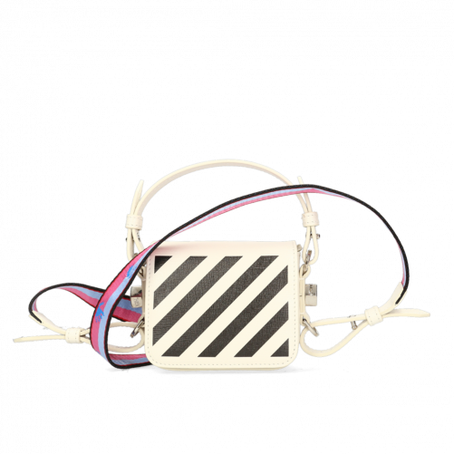 DIAG FLAP BAG OFF-WHITE