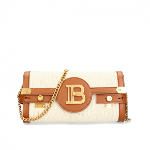 B-BUZZ CANVAS POUCH BALMAIN PARIS