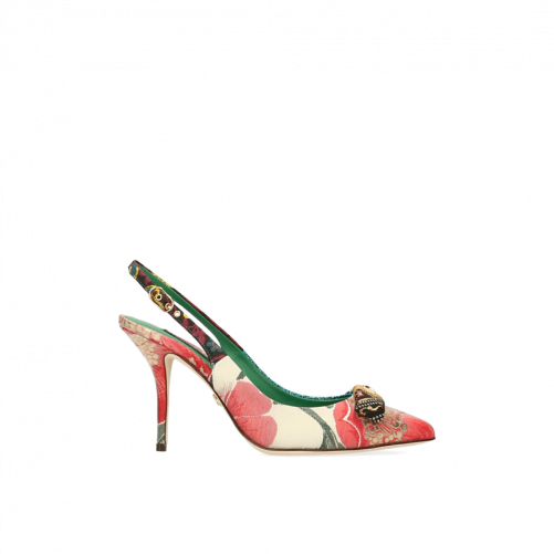 SLINGBACK FLORAL IN PATCHWORK FABRIC DOLCE & GABBANA