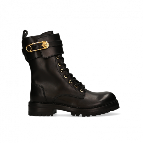 SAFETY PIN LACE-UP BOOTS VERSACE