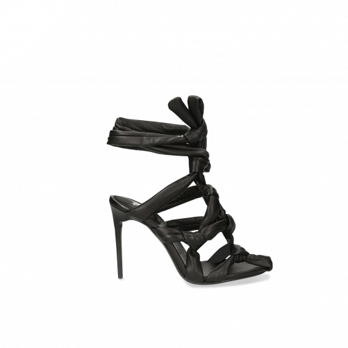 KNOTTED STRAPPY SANDALS OFF-WHITE